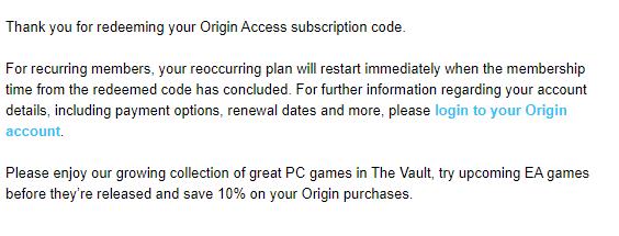 Wykupiłeś kod członkowski do Origin Access, czyli EA